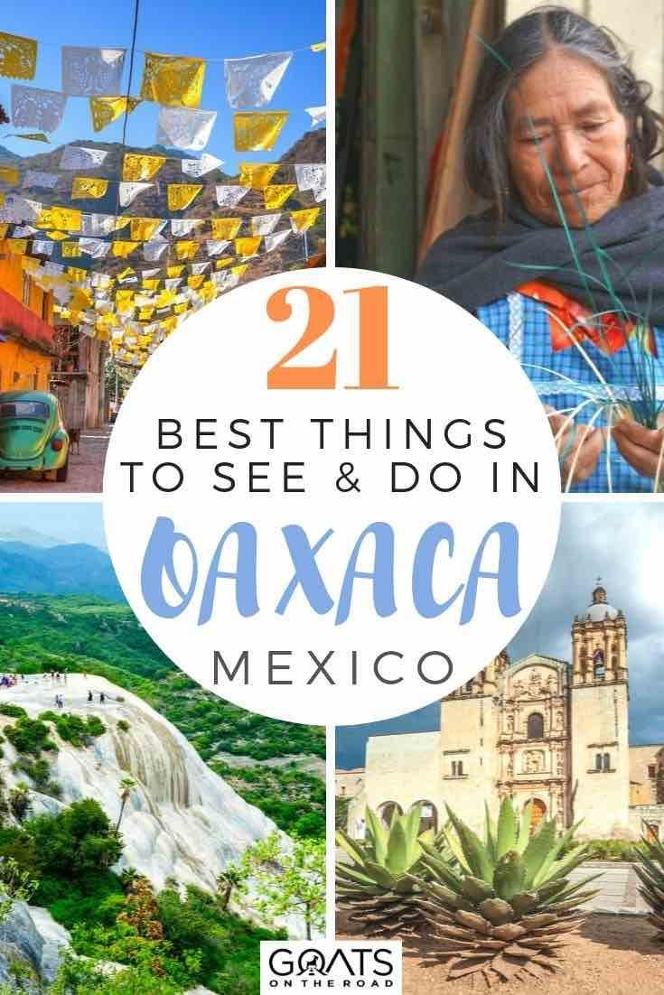 21 Things To Do in Oaxaca You Don't Want To Miss Looking for things to do in Oaxaca city, Mexico? We've got a list of 21 ideas, whether you want to go mezcal tasting, visit the Hierve el Agua waterfall, explore ancient ruins, or indulge in the local cuisine, we'll help you with your travel planning?  