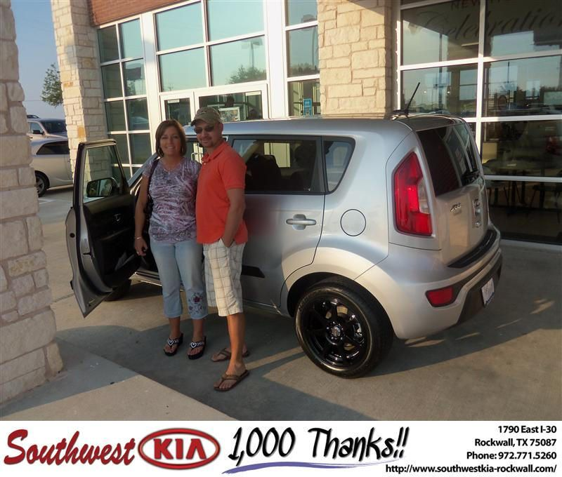 #HappyAnniversary to John Ford on your 2012 #Kia #Soul from Larry Upton at Southwest KIA Rockwall!