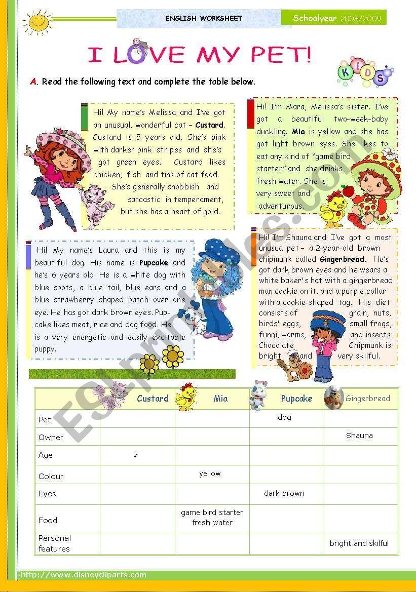 English Worksheets I Love My Pet 1st 45 Minute Lesson Of 2 And 2nd On Thi Series Reading For Upper E Upper Elementary Beginner Books Writing Activities [ 1169 x 821 Pixel ]
