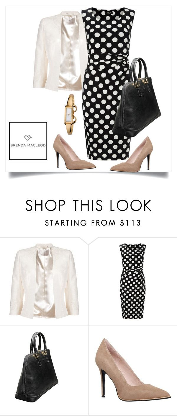 """""""woman with class"""" by brendamacleod ❤ liked on Polyvore featuring Jacques Vert, Precis Petite, KG Kurt Geiger and Gucci"""