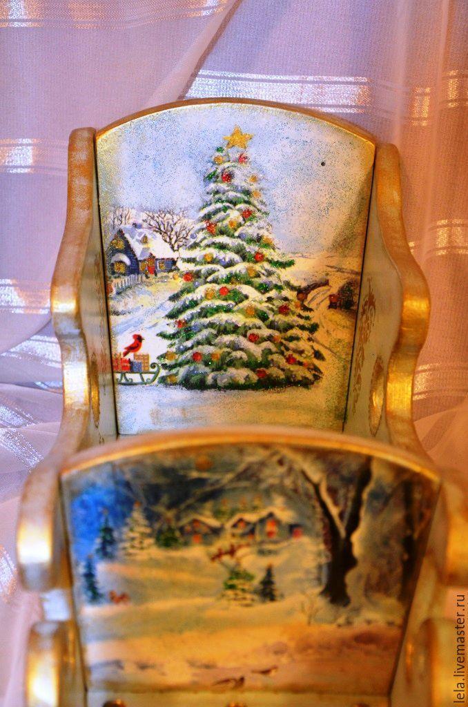 Деревянные санки в подарок