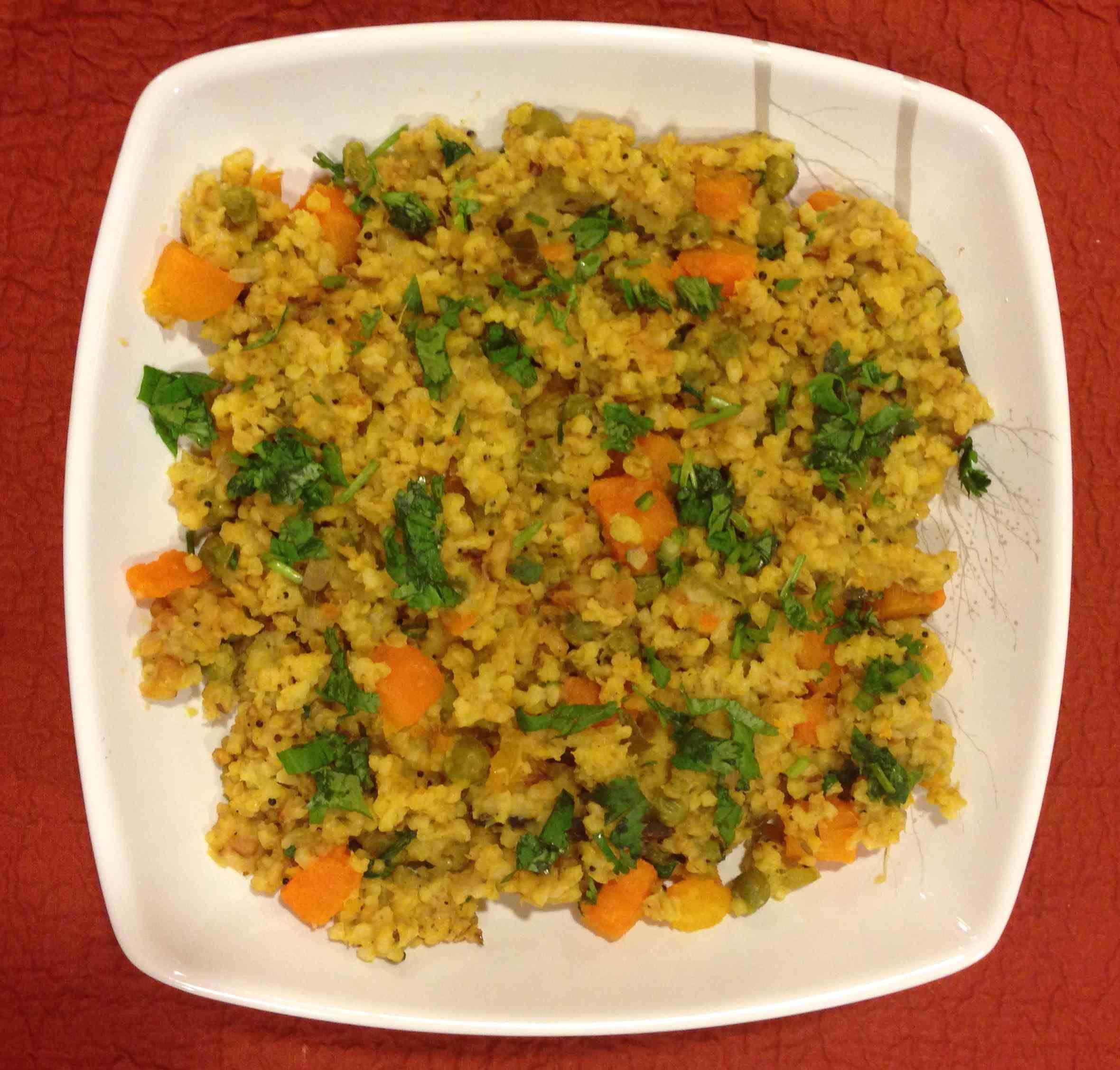Daliya Khichdi (Cracked Wheat Lentil Khichdi) Khichdi is