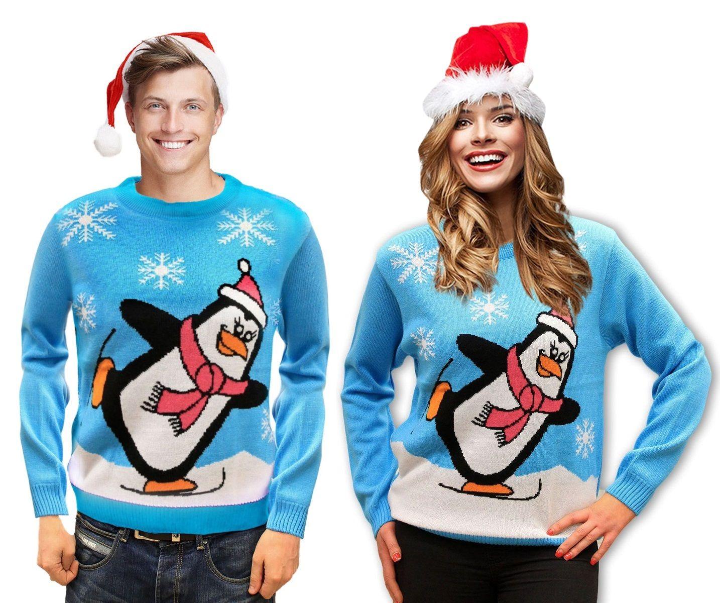 Sweter Swiateczny Pingwin Jasny Meski I Damski Idealny Na