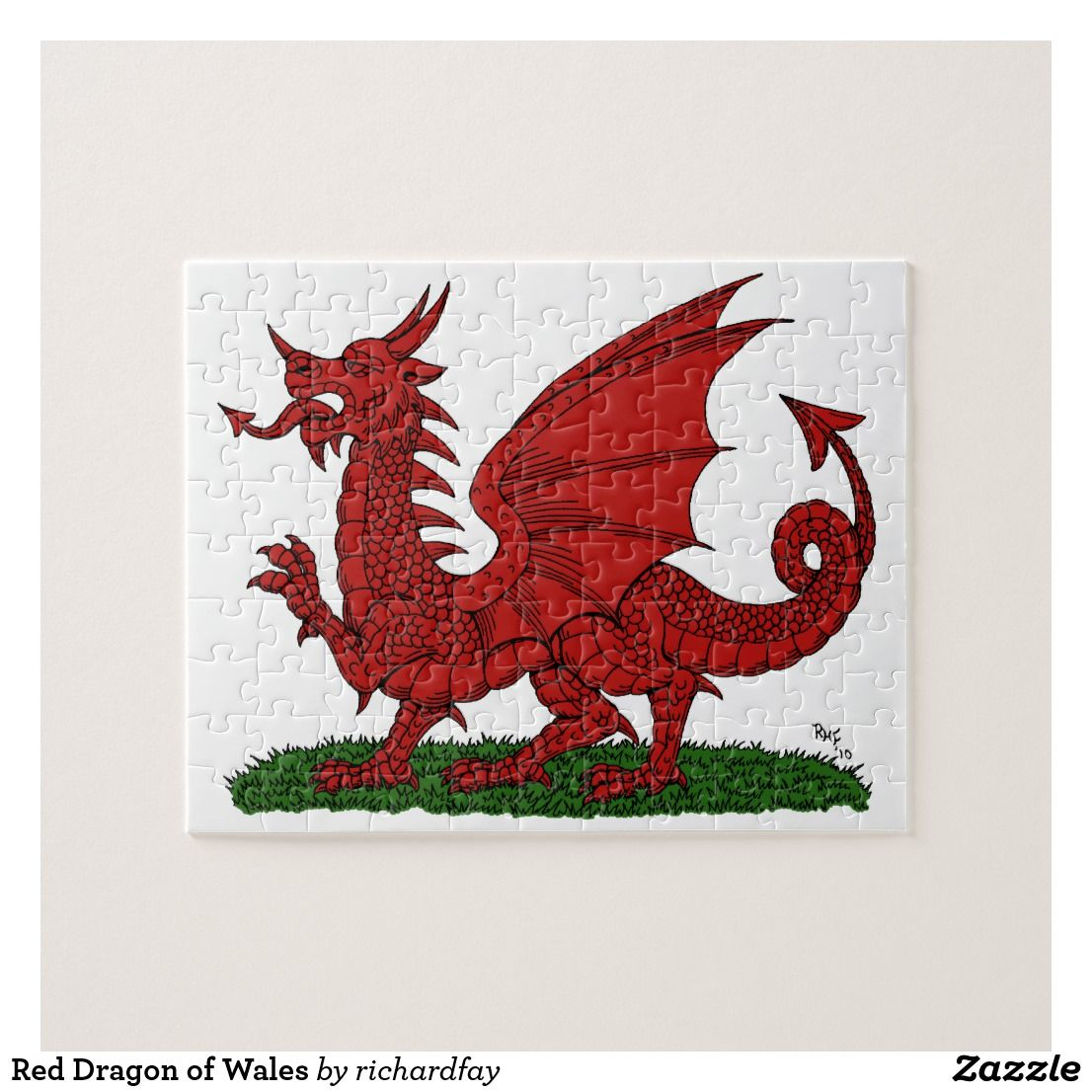 Red Dragon Of Wales Jigsaw Puzzle Zazzle Com In 2021 Red Dragon Jigsaw Puzzles Custom Puzzle [ 1106 x 1106 Pixel ]