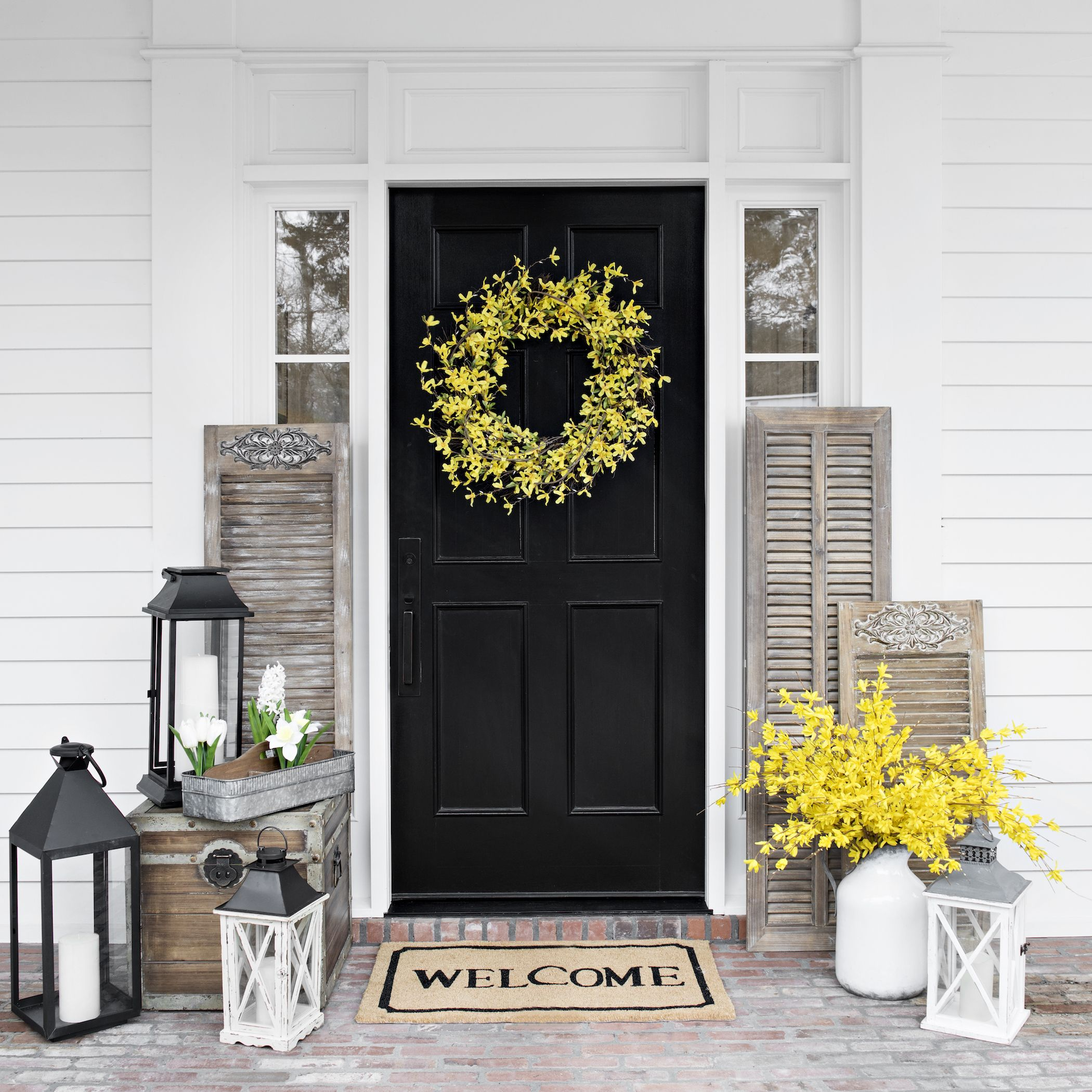 Doorways are for decorating spring is in the air for Decorative entrance doors
