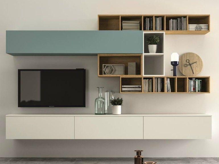 Parete attrezzata componibile slim 100 dall agnese libreria mobilier de salon meuble tv e - Dall agnese mobili classici ...
