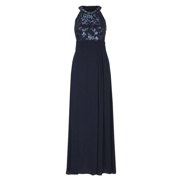 Abendkleid midi dunkelblau