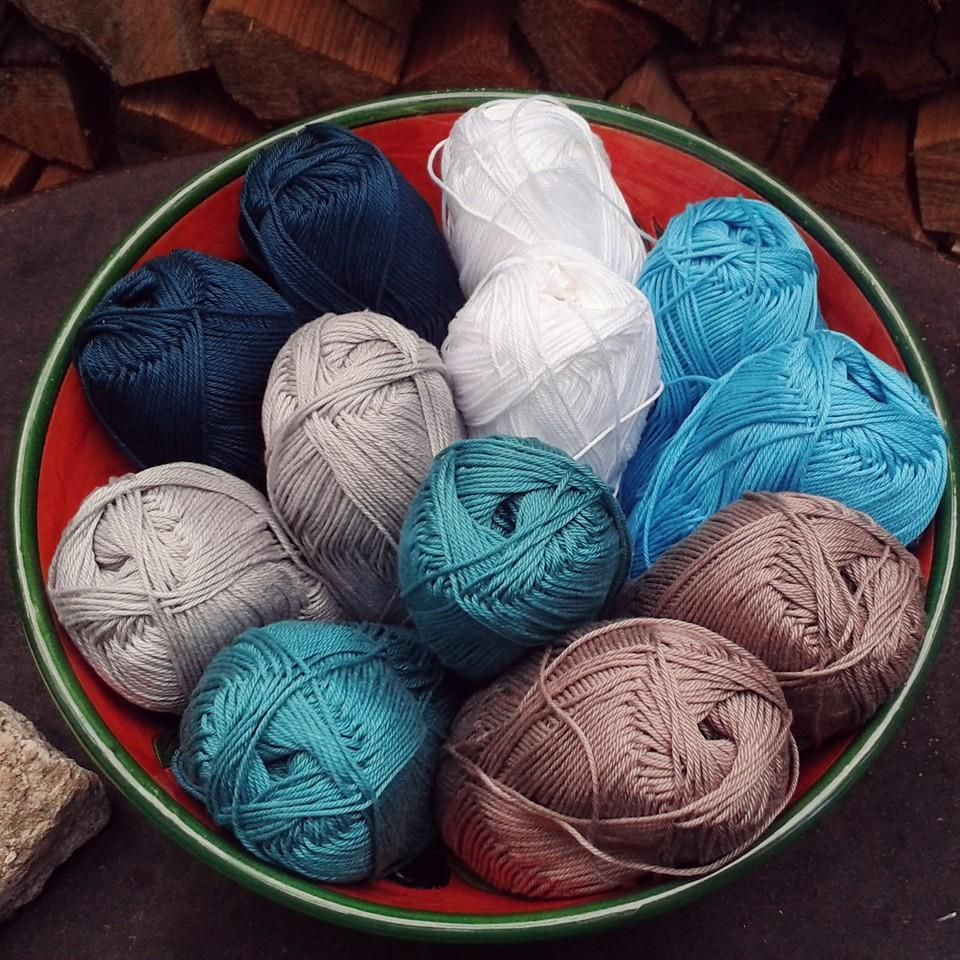 Baumwolle für die CAL Tasche schoenstricken.de DEEL 1