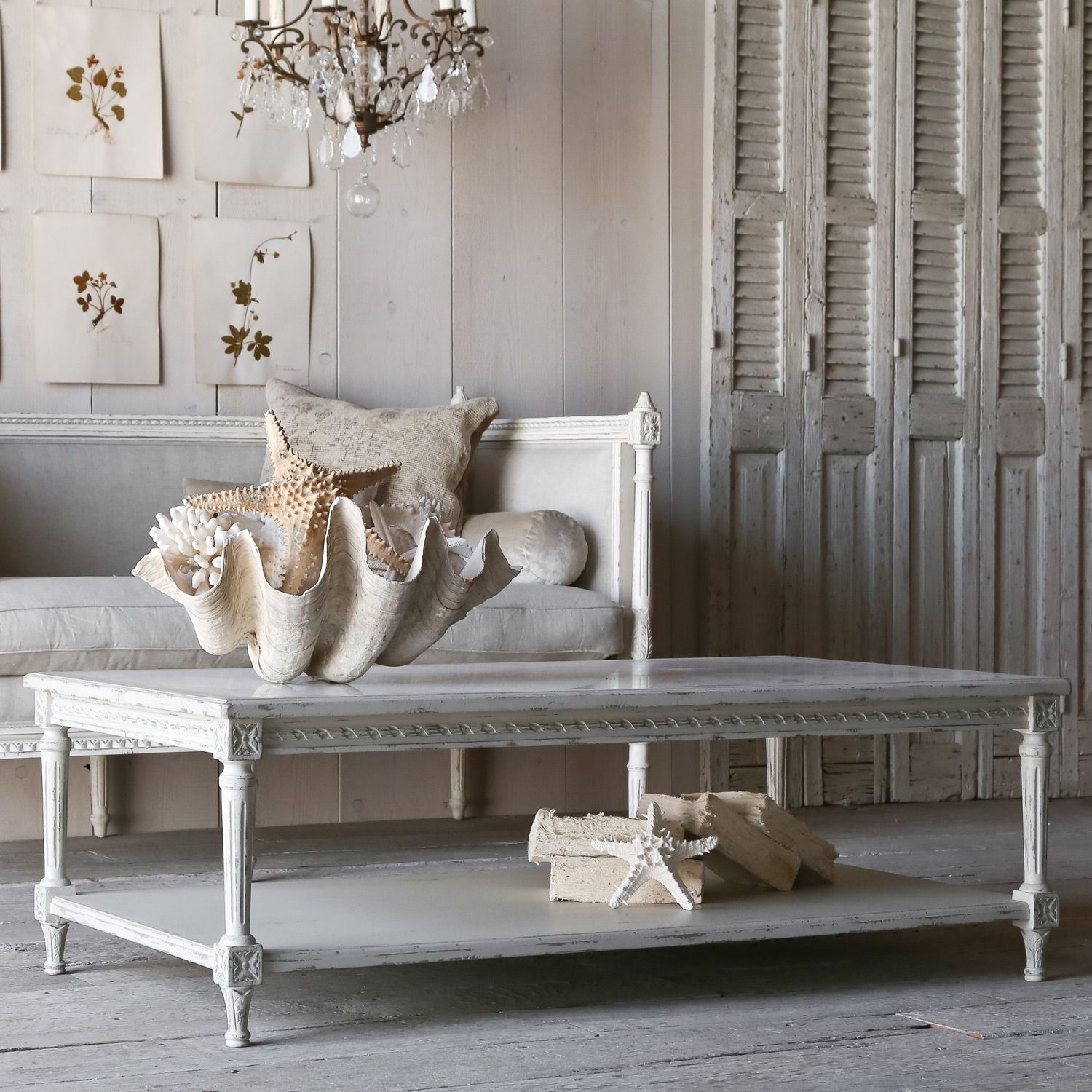Eloquence Le Courte Grande Oyster Coffee Table @LaylaGrayce