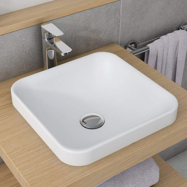 Natura Square Vessel Bathroom Sink Sink Drop In Bathroom Sinks