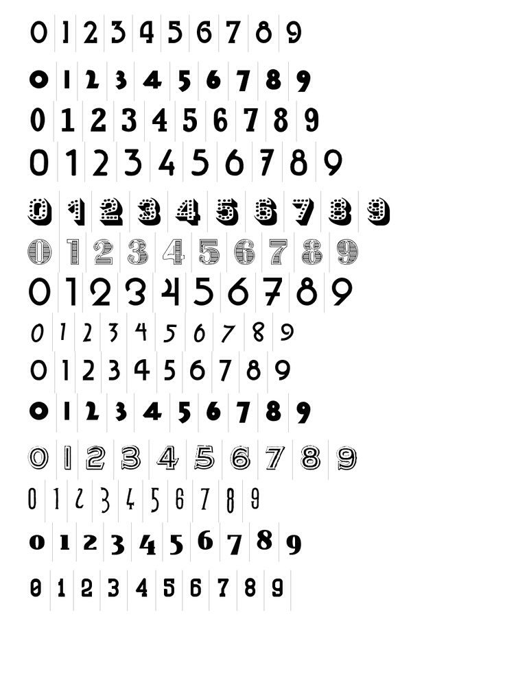 Funky Number Fonts X Números