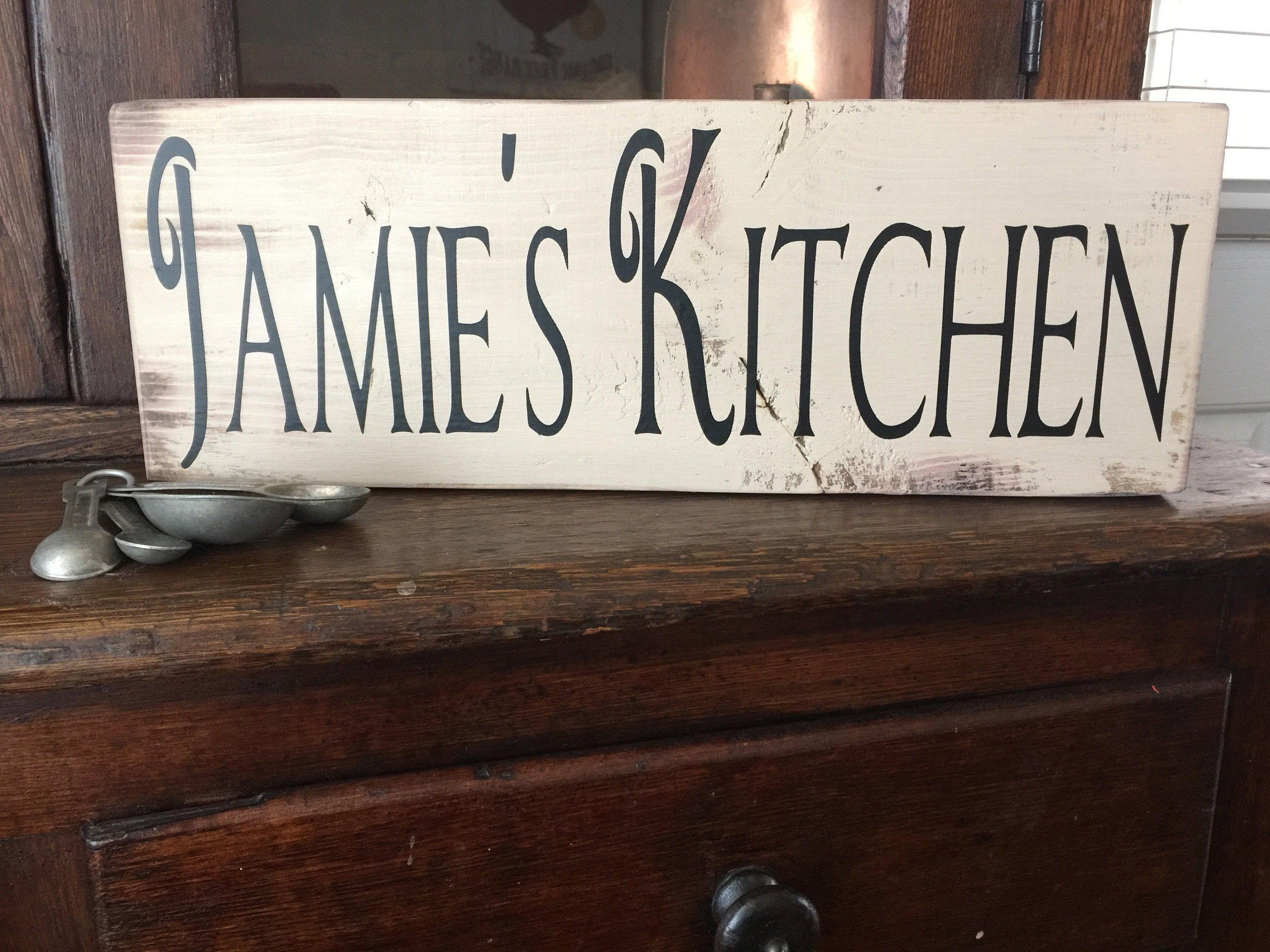 Wooden Personalized Kitchen Signs Kitchen Farmhouse Rustic