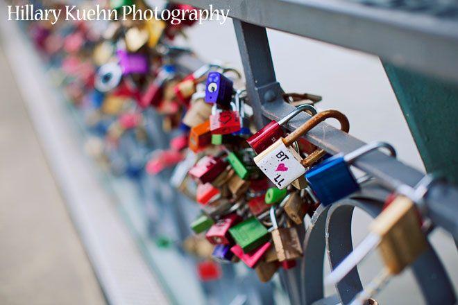 Hillary Kuehn Photography Locks on a bridge in Frankfurt, Germany
