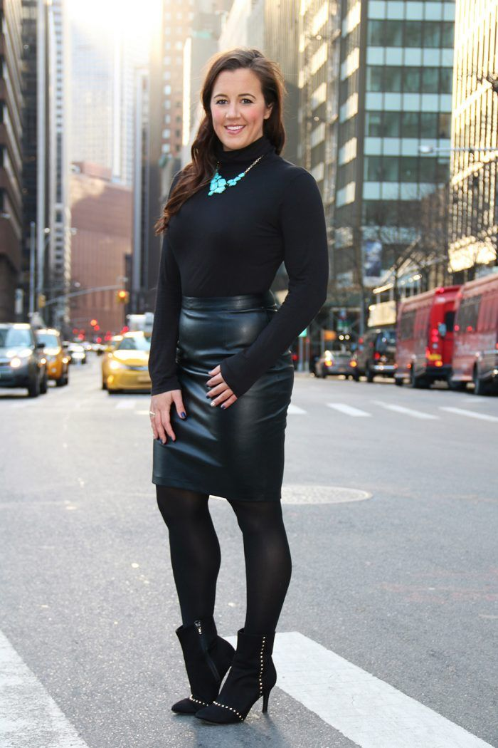 Pantyhose and leathers