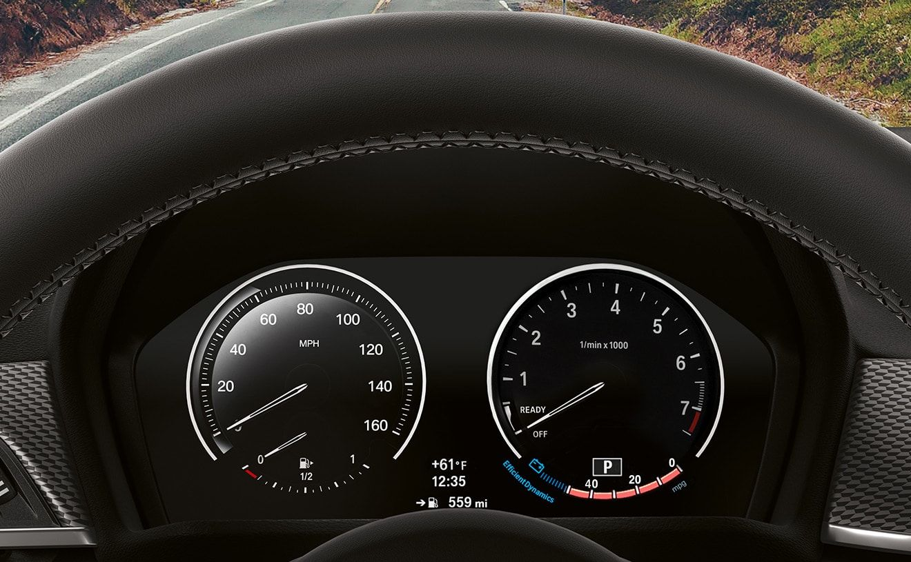 Black Panel Instrument Cluster with 5 7