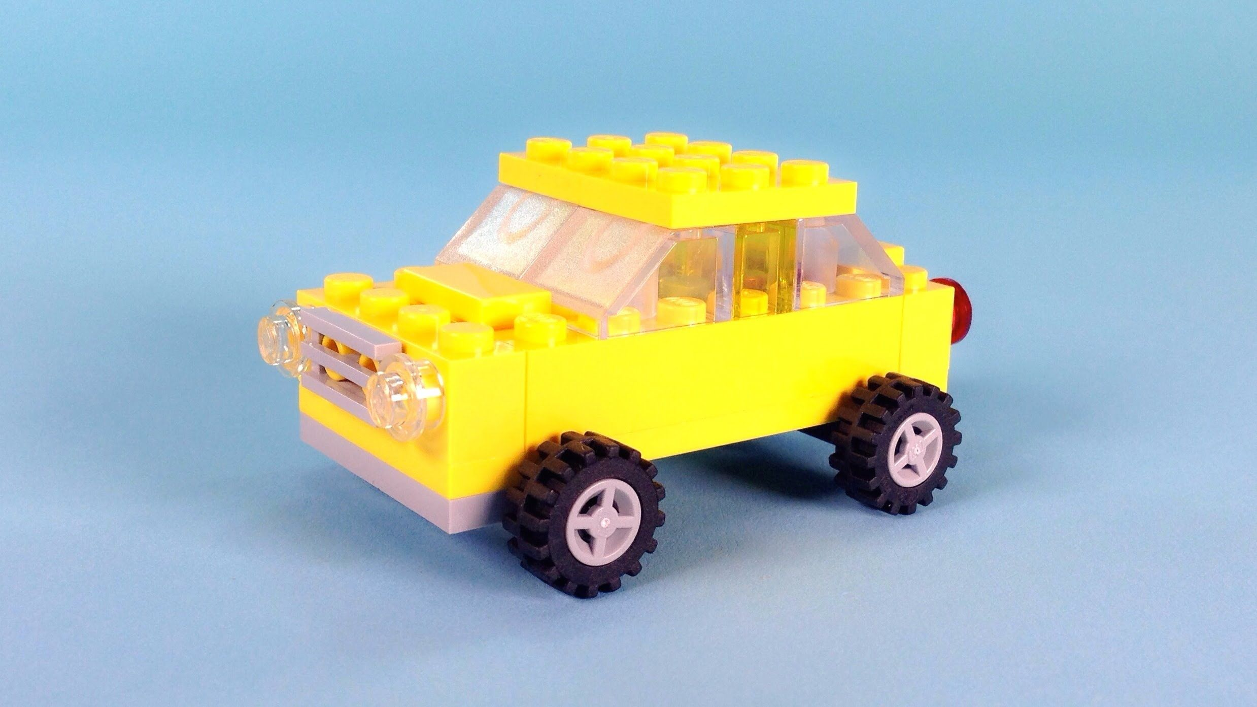 "Lego Car (Yellow) Building Steps Lego Classic 10696 ""How To"""