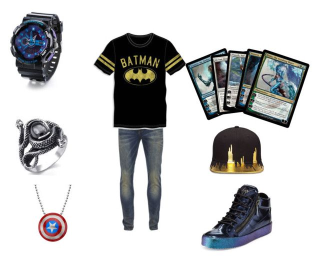 """""""For my little bro"""" by fallenstar27 ❤ liked on Polyvore featuring Scotch & Soda, Bioworld, Champion, Giuseppe Zanotti, Gents, men's fashion and menswear"""