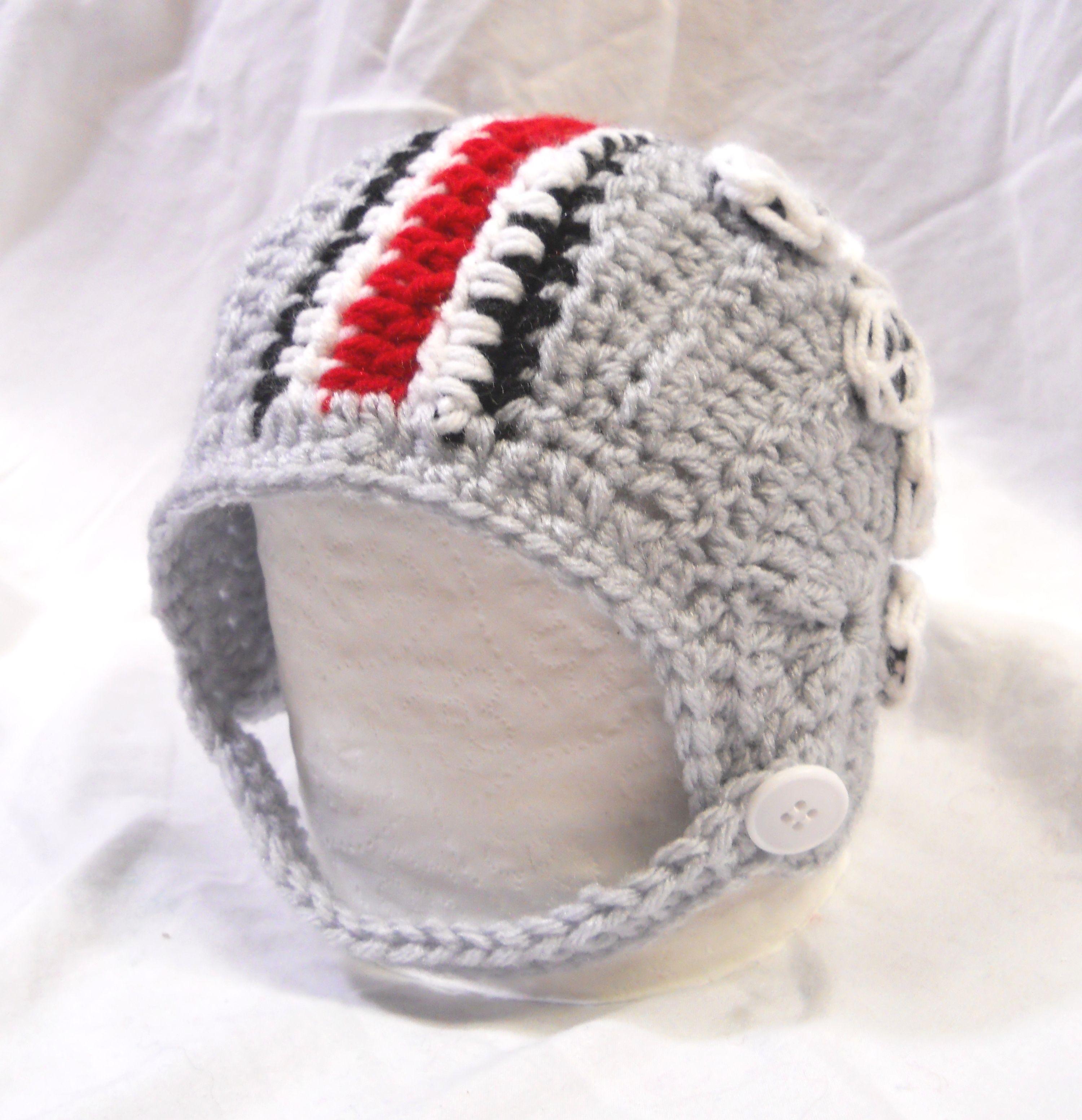 Ohio State University Crochet Football Helmet Hat | Ohio State ...