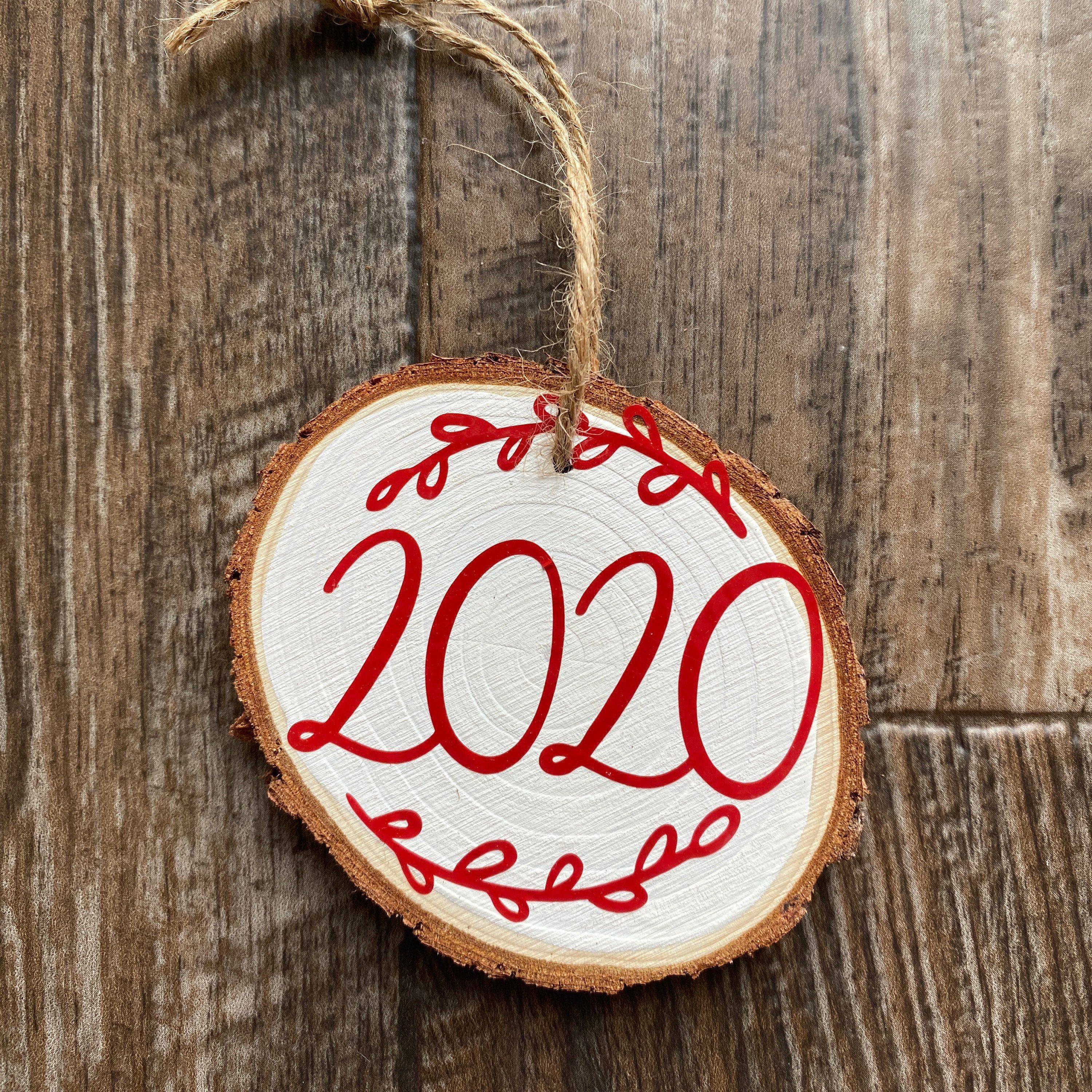 Wood Christmas Ornament 2020 Hand Painted Christmas Etsy Christmas Ornaments Wood Christmas Ornaments Ornaments