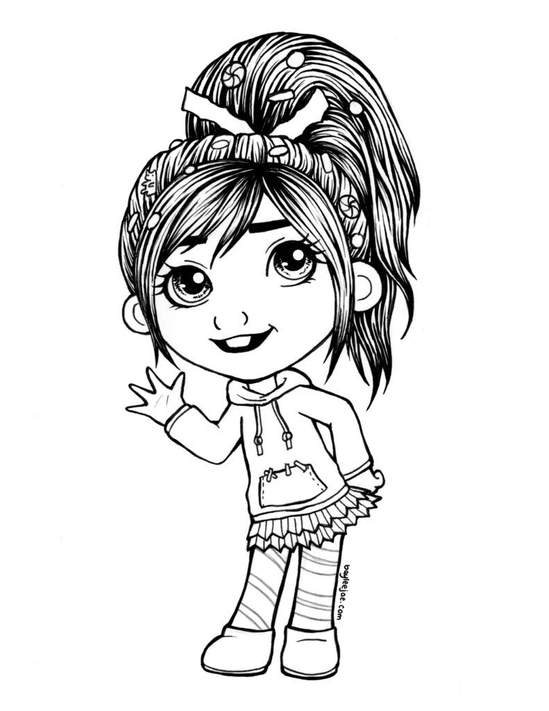 vanellope colouringpage free coloring pages pinterest simple