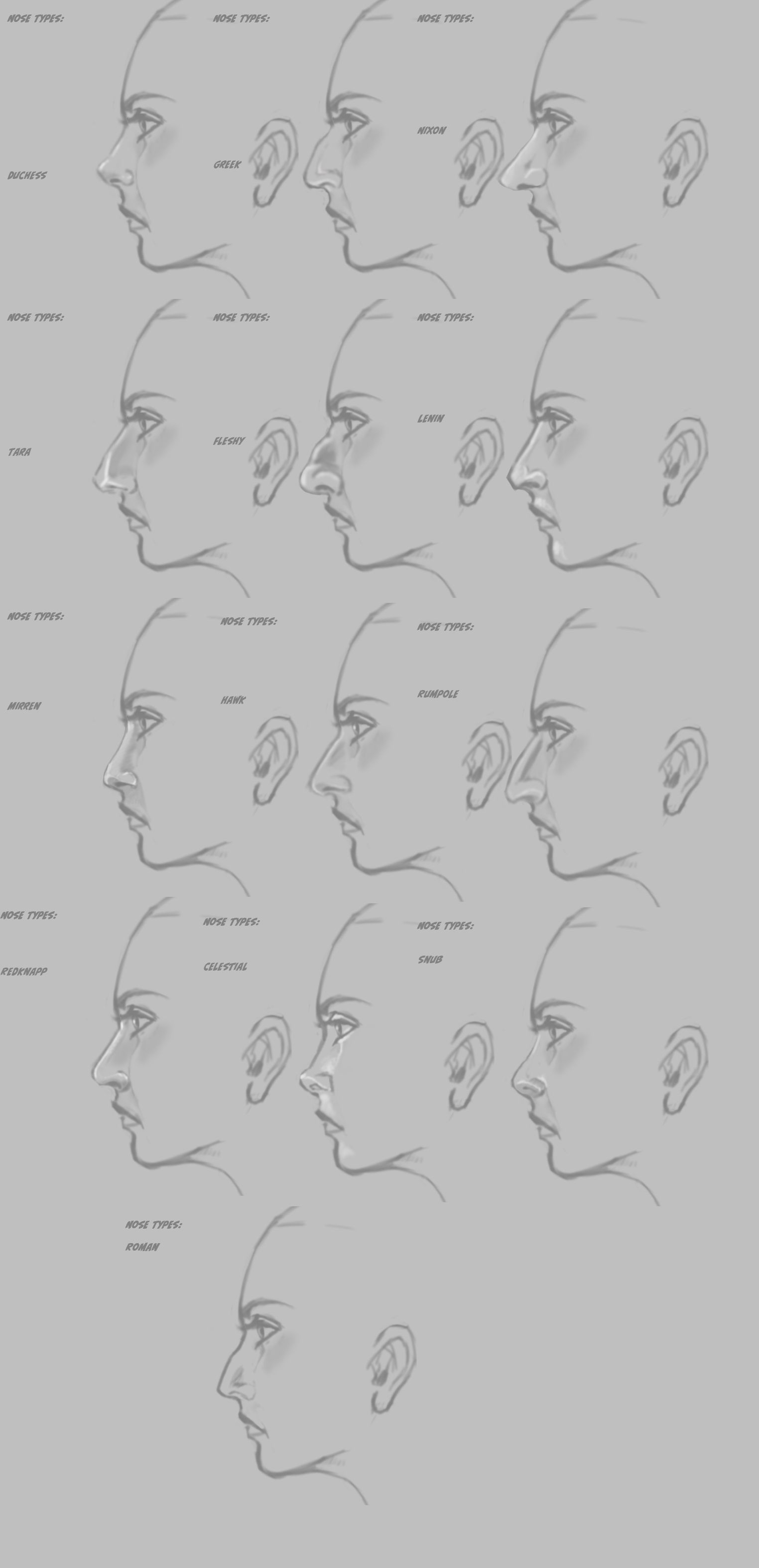 Drawing Noses Worksheet