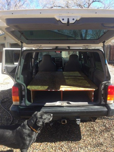 Diy Jeep Cherokee Xj Sleeping Platform Jeeps Jeep