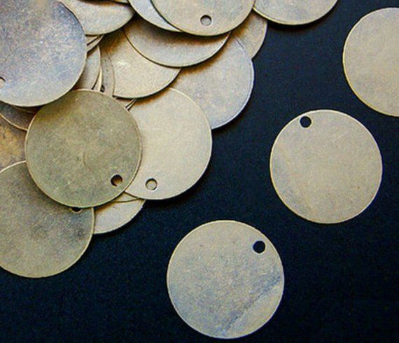 15 + Antique Golden Steampunk 12 mm bronze pendant pendant