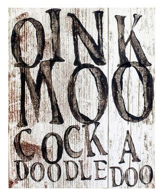'Oink, Moo, Cock-a-Doodle-Doo' Wall Plaque