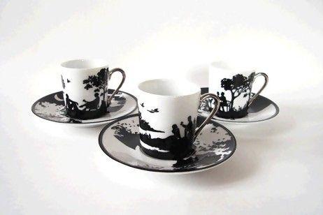Emma Challier's beautiful silhouette porcelain