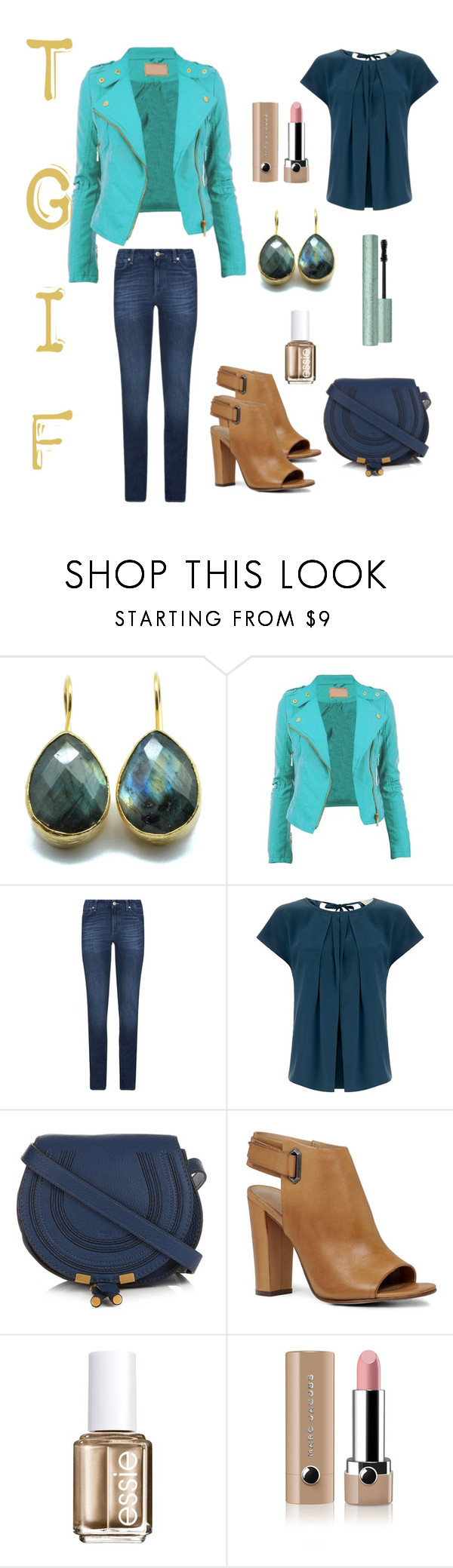 """""""#TGIF"""" by irene-ireen ❤ liked on Polyvore featuring 7 For All Mankind, Goat, Chloé, ALDO, Essie, Marc Jacobs, casual, booties, suede and friday"""