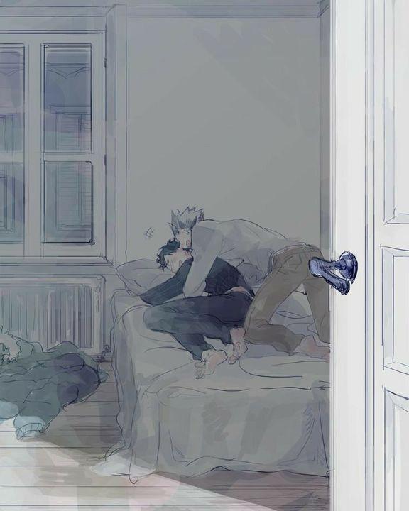 YAOI pictures😏 - bokuto x akaashi
