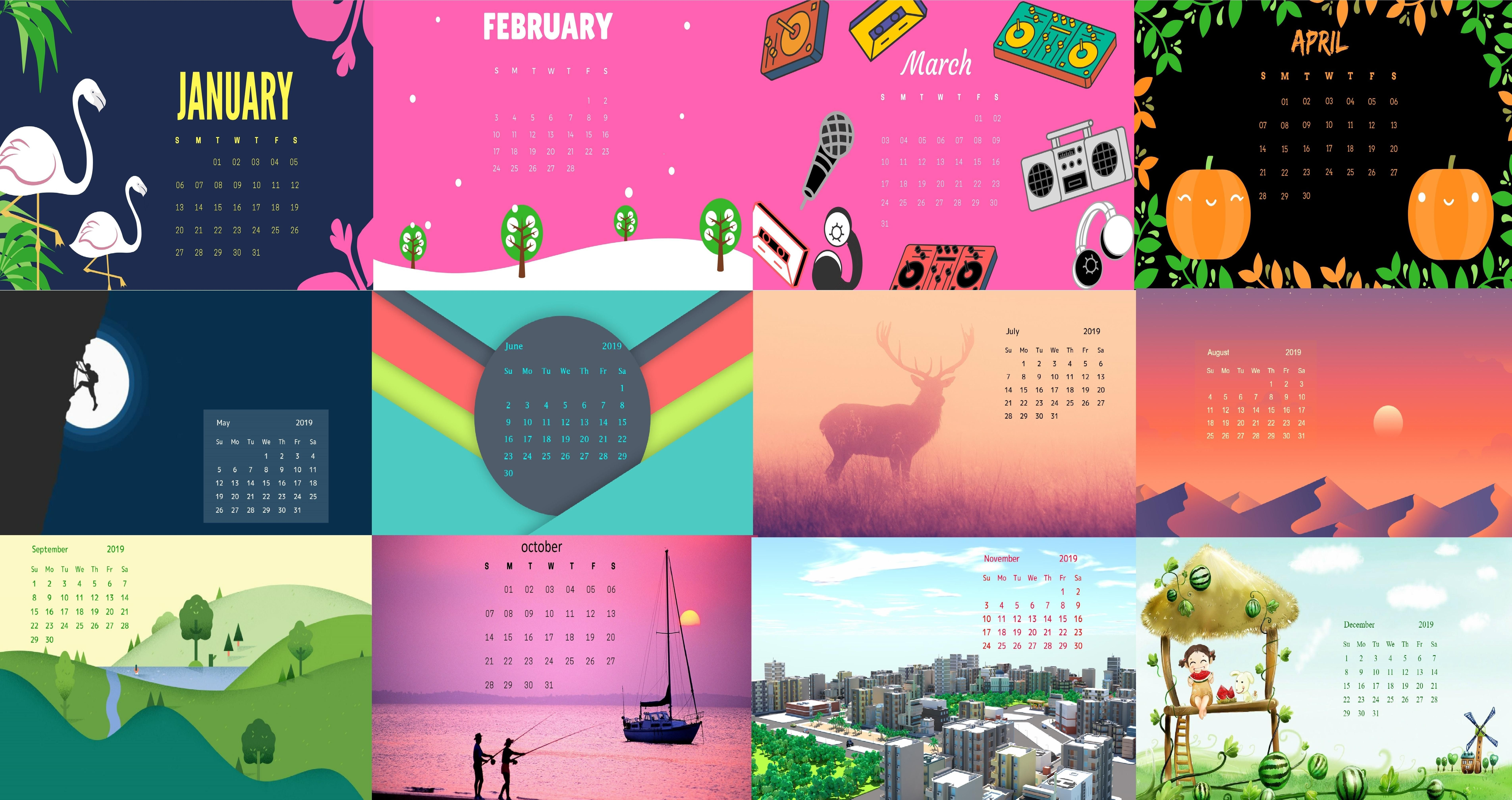 Free 2019 Calendar Hd Wallpapers Download Hd Wallpaper Calendar
