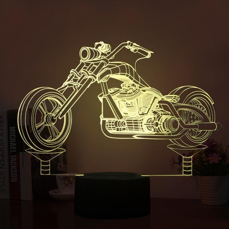 Motorcycle Model Shape 3d Led Lamp 3d Led Lamp Led Lamp Motorcycle Model