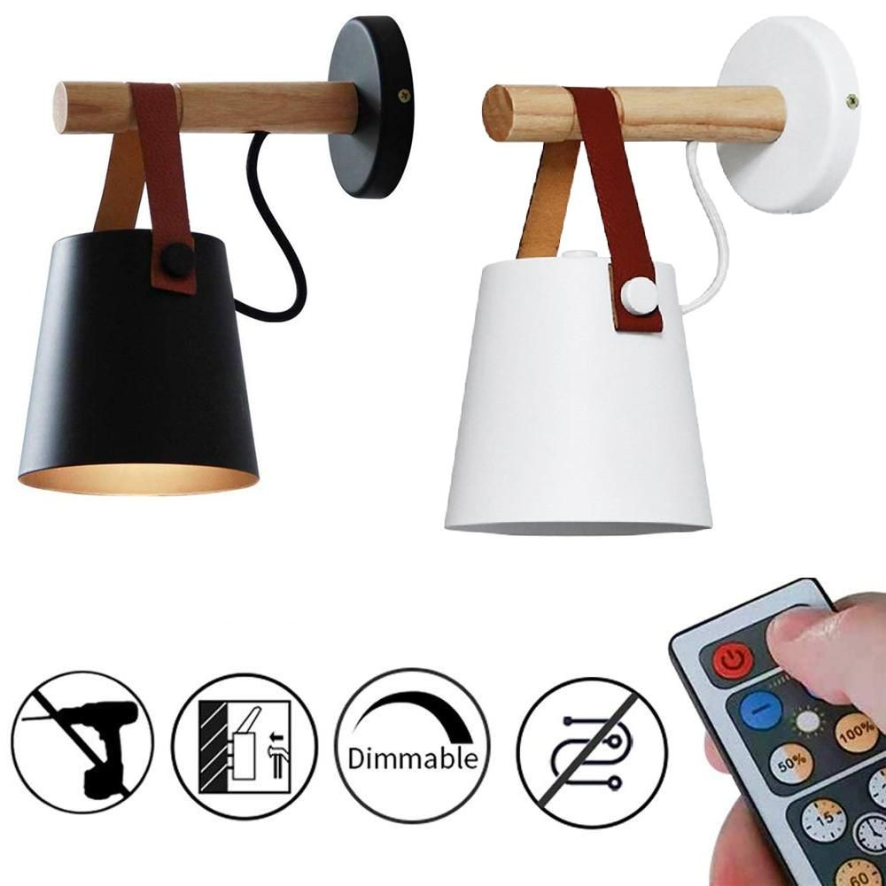 Battery Operated Wireless Wall Light Black White 1pc In 2020