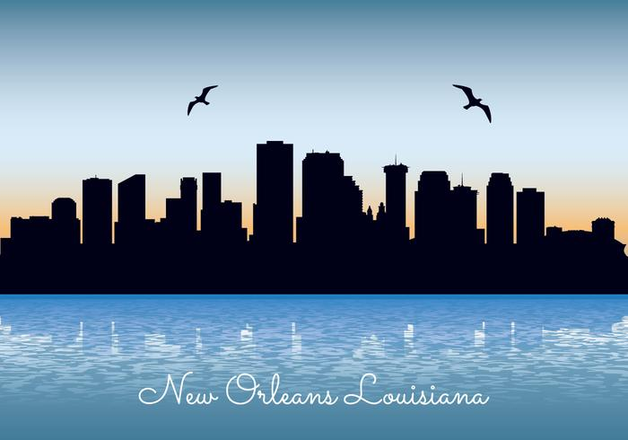 New Orleans Skyline Silhouette Vector Google Search New Orleans Skyline Vector Art Design Vector Art