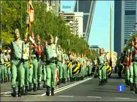 Legión Española Desfile Día De La Hispanidad 2 010 Día De La Hispanidad La Legion Española La Legion