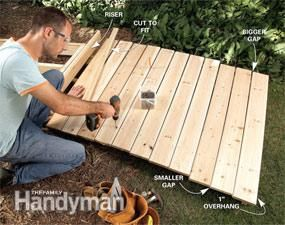 A Wooden Walkway Makes An Attractive And Inexpensive Garden Path, Is  Simpler And Less Backbreaking To Make Than A Stone Or Concrete Path, And  Works Well In ...