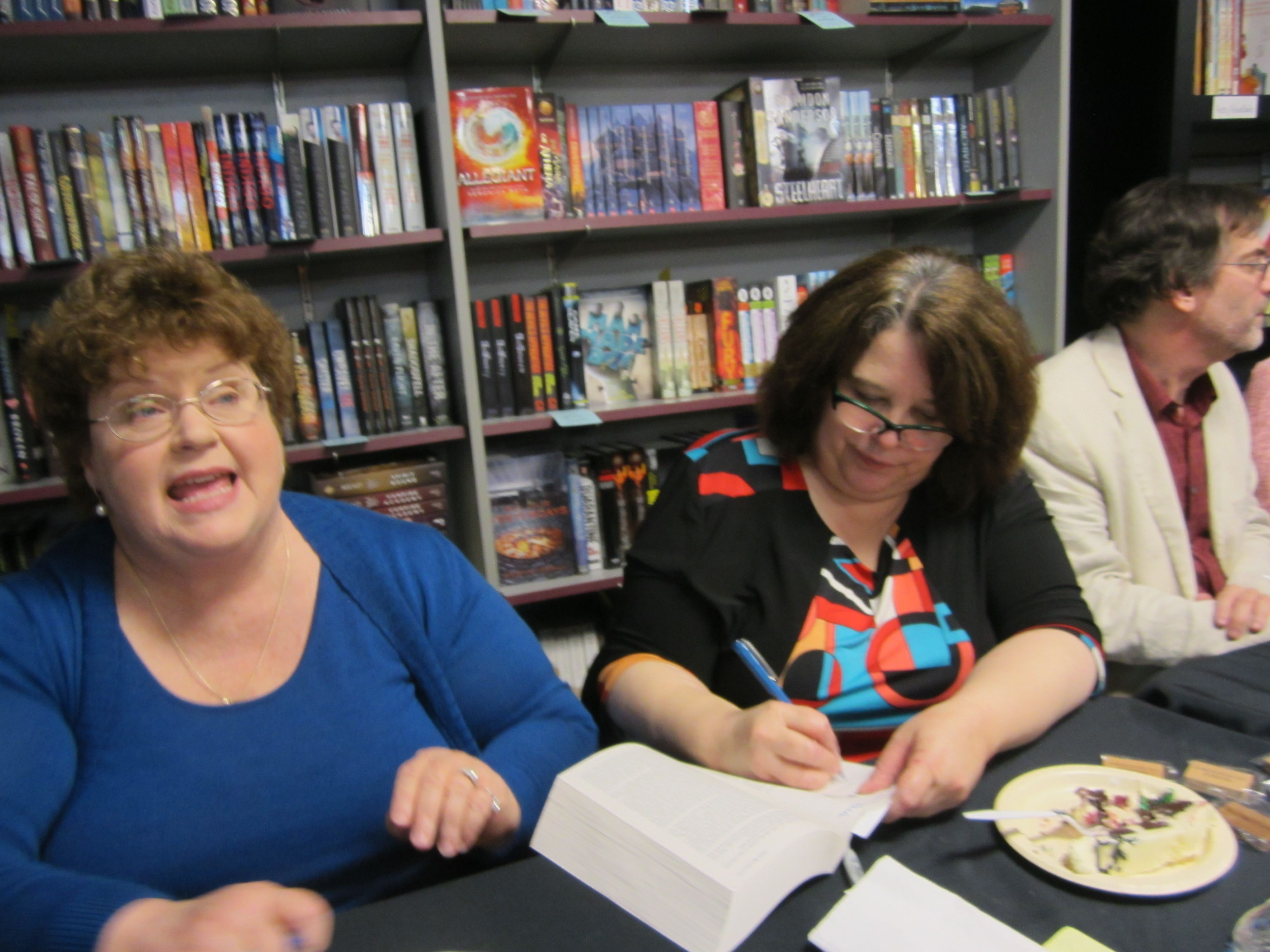 Author event at Mysterious Galaxy event.