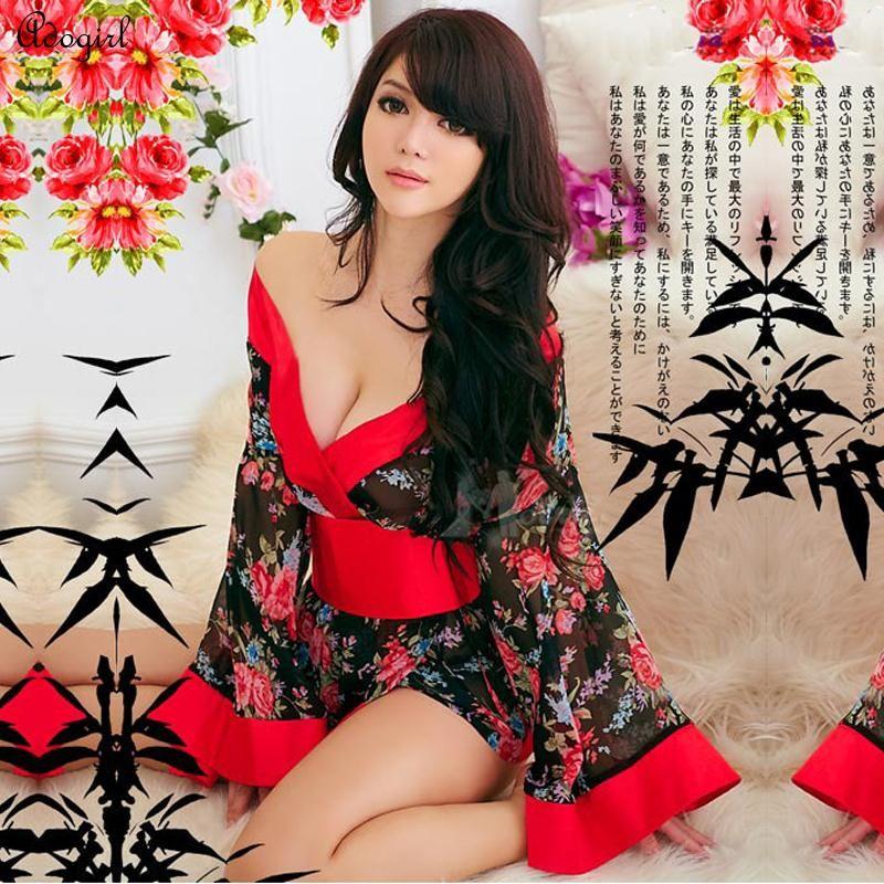 Adogirl Japanese Kimono Cosplay Geisha Dress Cosplay For