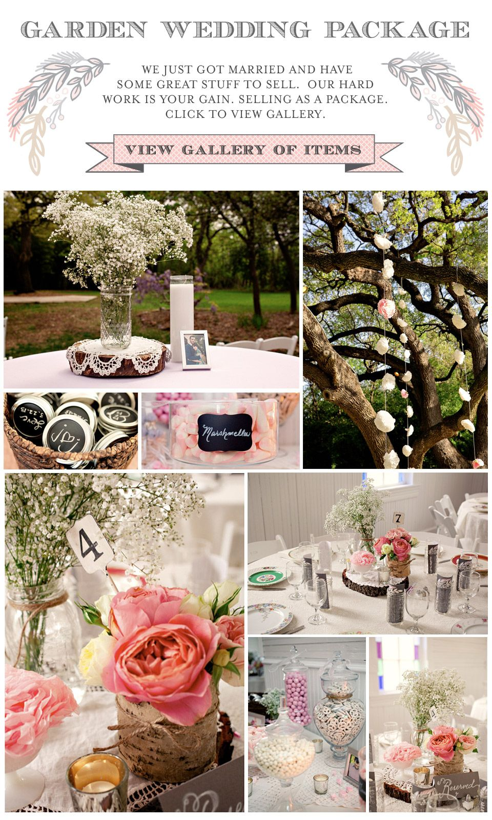 Vintage Garden Wedding Package Doilies Apothecary Jars Birchboxes For Sale Vintage Garden Wedding Wedding Table Settings Wedding Package