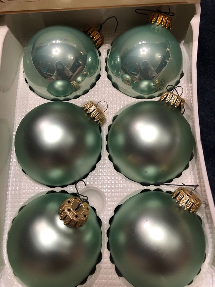 Vintage Box Pastel Mint Green Glass ball Christmas ornaments Christmas by  Krebs. Condition is Used. Shipped with USPS Priority Mail (1 to 3 business  days). - Vintage Box Pastel Mint Green Glass Ball Christmas Ornaments