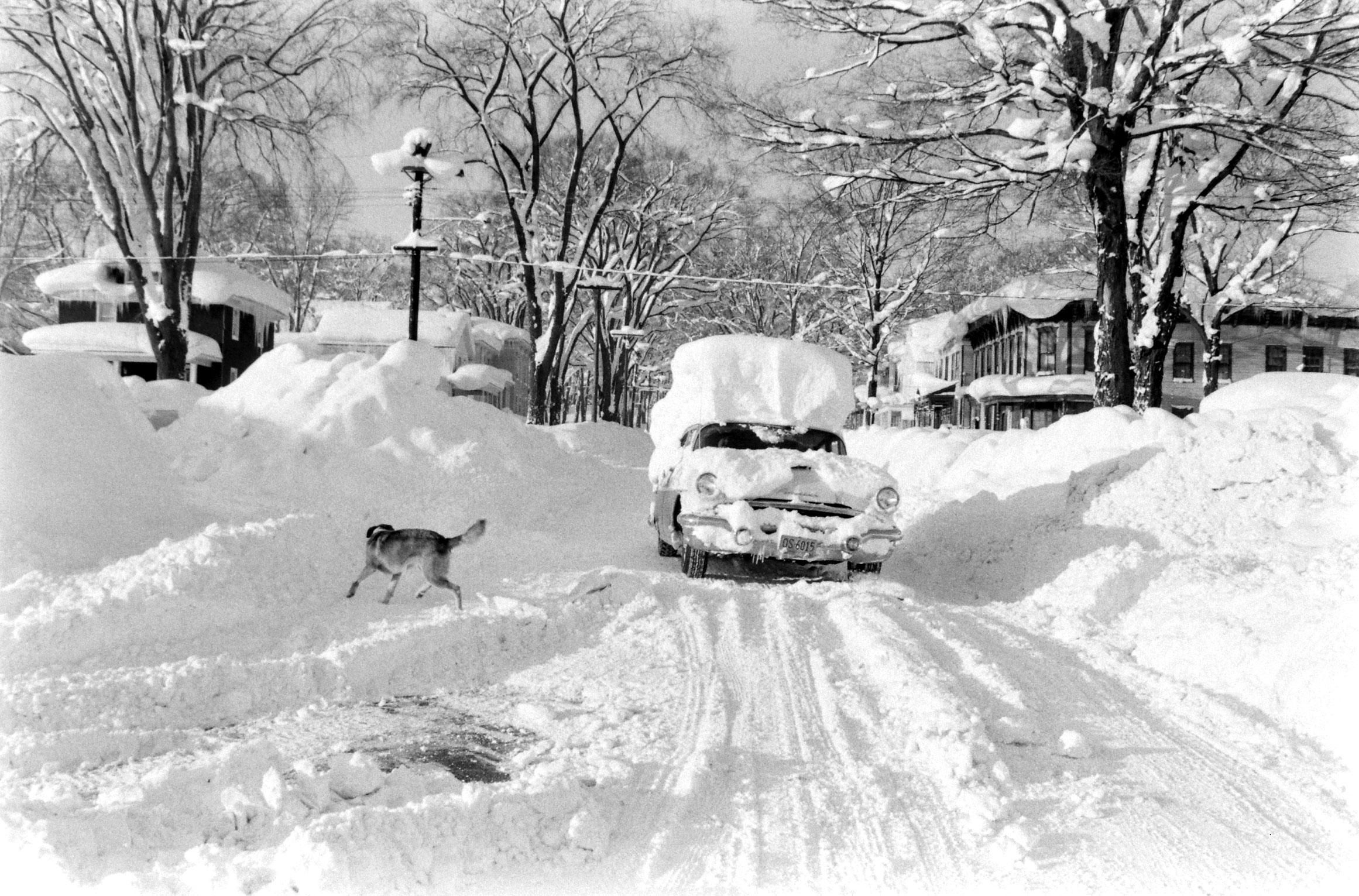 See photos from a 1958 storm that dumped six feet of snow on new york