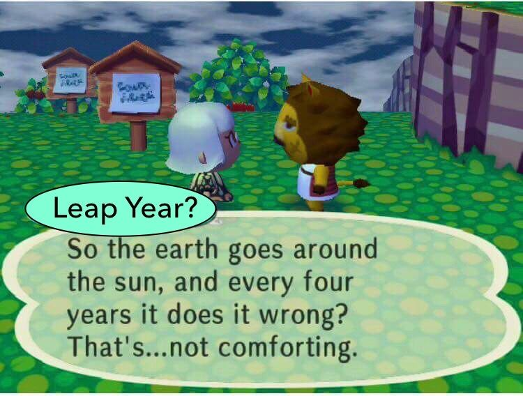 Umm Happy Leap Year Day Animal Crossing Leap Year Quotes Happy Leap Day