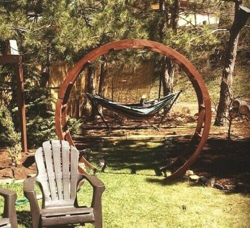Circle Arbor: Details About Garden Solid Wood Arch Arbor Circle Wide
