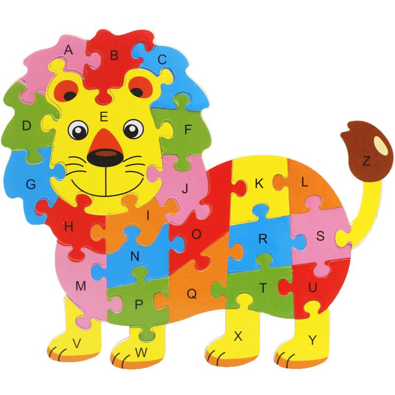 Animal Alphabet Wooden Puzzles Animal Learning