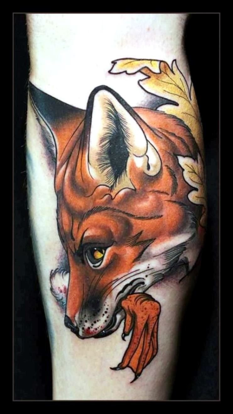 30 Fox Tattoos Fox Tattoo Tattoos Red Fox Tattoos