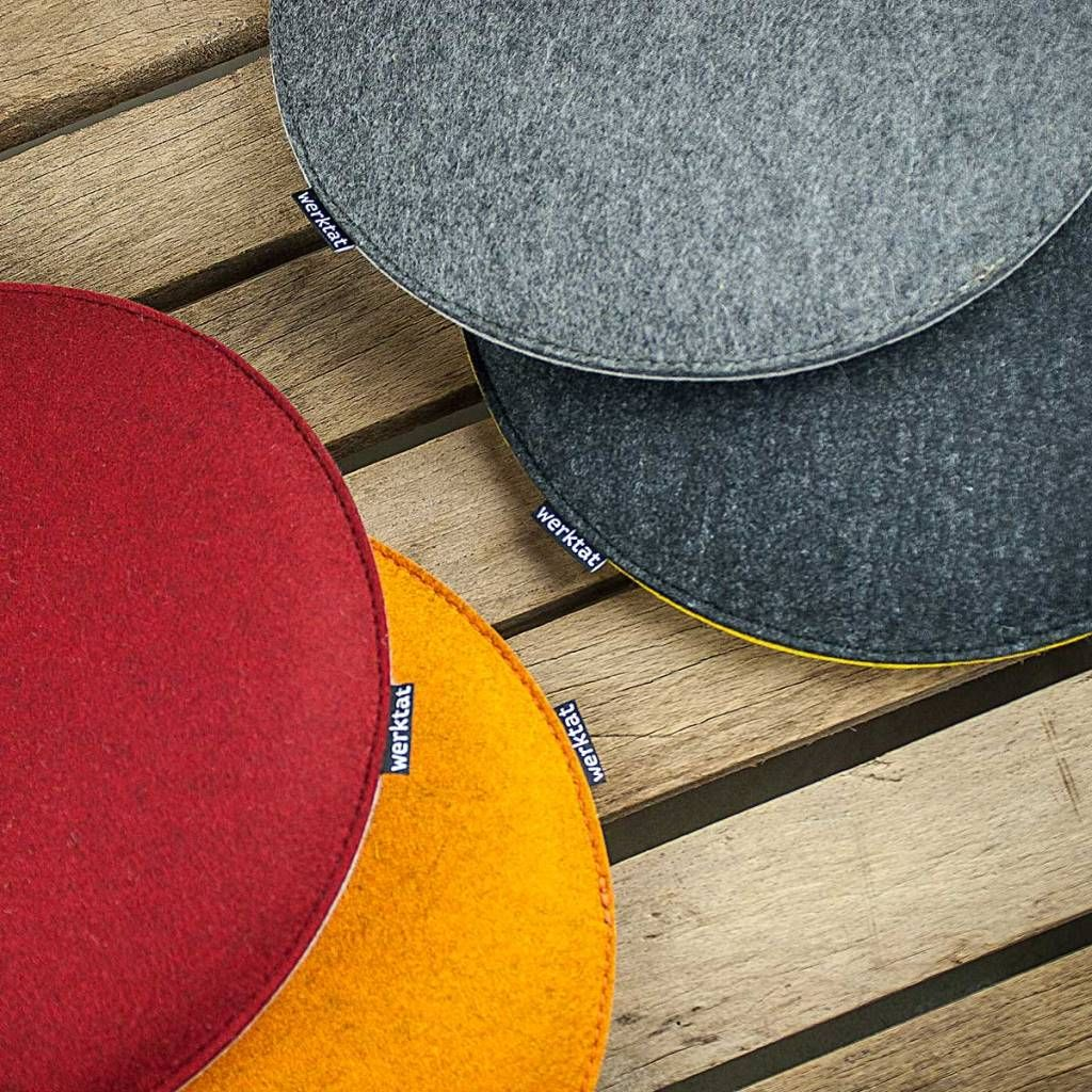 Anti-Slip Chair Pads for Dining Chairs Seat Cushion for Kitchen Round 30cm