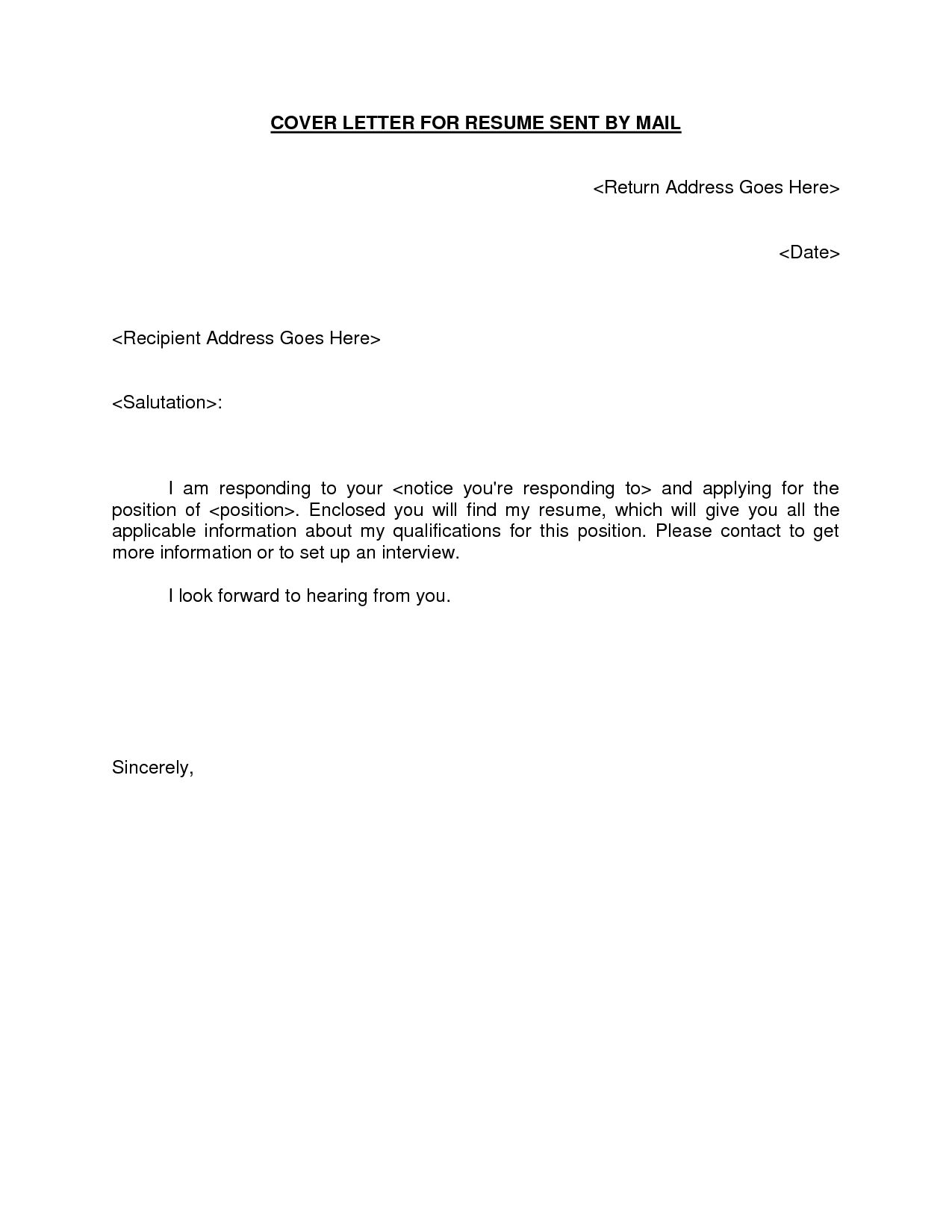 Good Cover Letter Template Cover Letter Resume Examples Email Style Resumes Professional