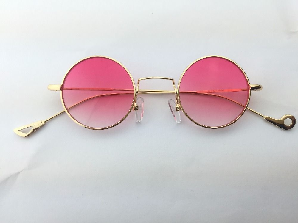 5933620b2b1 Round Vintage Steampunk Sunglasses For Women Small Eyewear Mirror ...