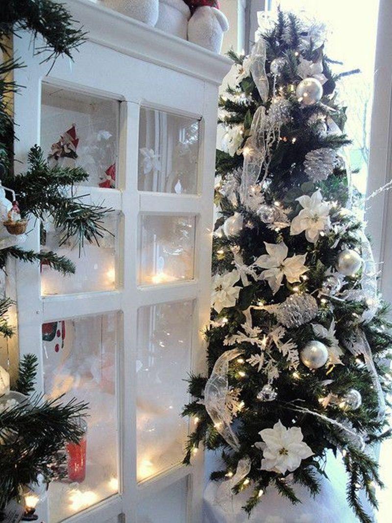 Foto Alberi Di Natale Bianchi albero di natale bianco e argento - google pretraživanje